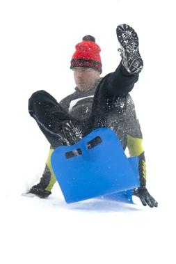 Les glissades sur neige, notamment, ont contribué au succès de la fin de semaine. (Martin Roy, Le Droit)