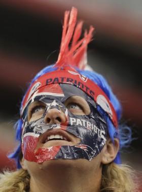 Cette partisane des Pats affichait clairement ses couleurs. (AP)