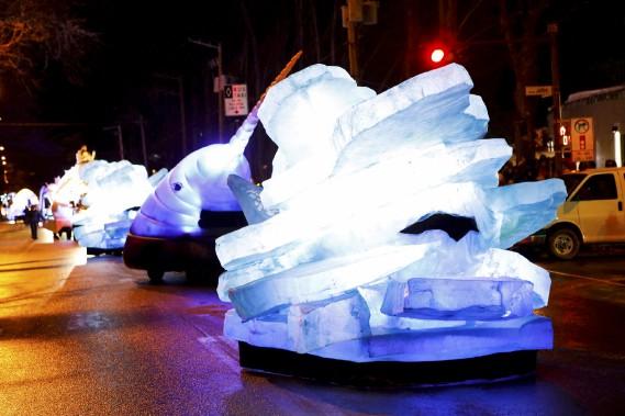 Les petits chars : narvals et icebergs (Le Soleil, Caroline Grégoire)
