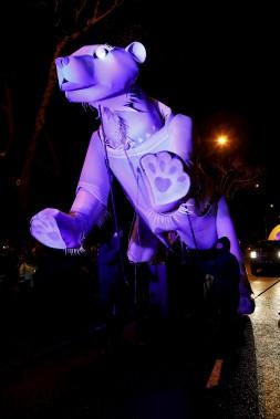 La grande nouveauté de cette année : l'ours géant (Le Soleil, Caroline Grégoire)