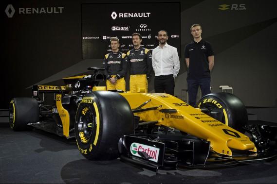 Renault F1 vise le Top-5 en 2017 avant de viser plus haut