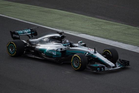 Valtteri Bottas au volant de la W08 EQ Power+.<br /><br /> (AFP)