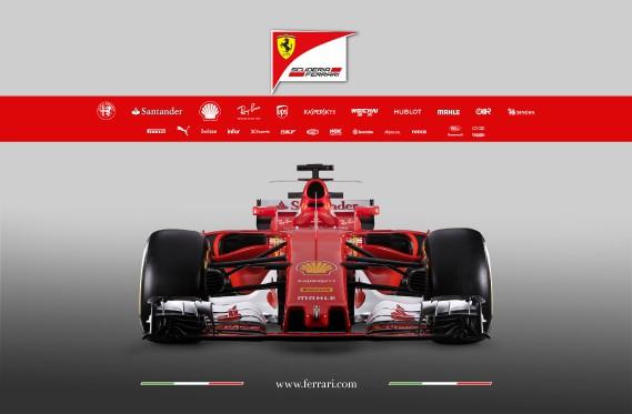 La Ferrari SF70H. (Ferrari, via AFP)