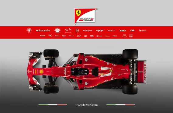 La Ferrari SF70H. (AFP)