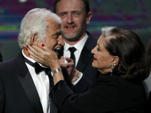 Un César d'honneur a été remis à Jean-Paul Belmondo. (Photo Philippe Wojazer, REUTERS)