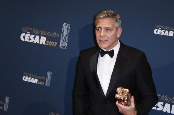 Un César d'honneur a également été remis à l'acteur américain George Clooney. (Photo THOMAS SAMSON, AFP)