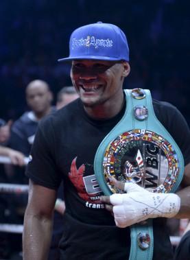 Eleider Alvarez conserve son titre de champion silver de la WBC. (Le Soleil, Jean-Marie Villeneuve)