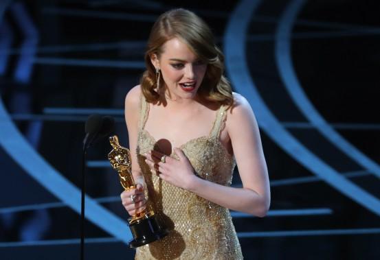 Sans grande surprise, Emma Stone a décroché l'Oscar de la meilleure actrice pour son interprétation dans <em>La La Land</em>. (REUTERS)