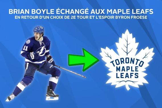 Les Leafs obtiennent l'expérimenté Brian Boyle pour appuyer les jeunes joueurs de l'organisation. ()