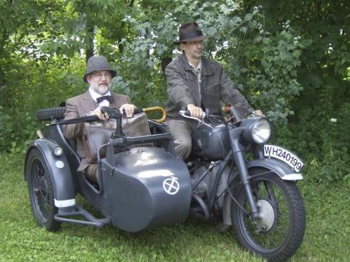 Side-car Dniepr 650 d'<i>Indiana Jones etla dernière croisade</i> (Fournie par le Salon de l'auto de Québec)