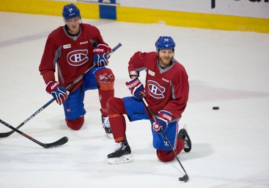 Steve Ott (à droite) et Michael McCarron (Photo Simon Giroux, La Presse)