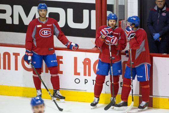 Andreas Martinsen, Steve Ott et Brian Flynn (Photo Simon Giroux, La Presse)