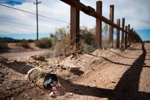 La frontière dans le secteur de Lukeville, en Arizona (AFP, Jim Watson)