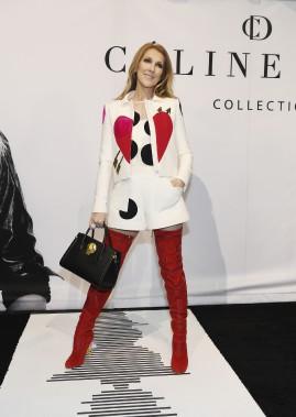 Céline Dion lors du lancement de sa collection (Denise Truscello)