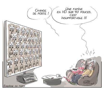 Caricature du 7 mars (Le Soleil, André-Philippe Côté)
