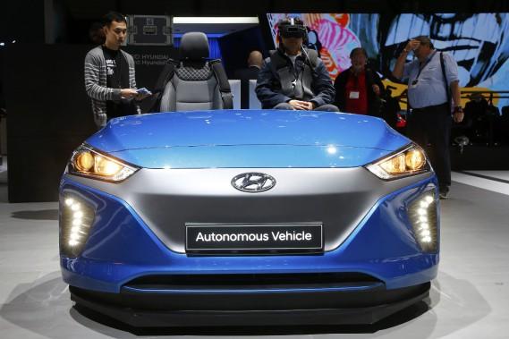 Une auto autonome Hyundai. (REUTERS)