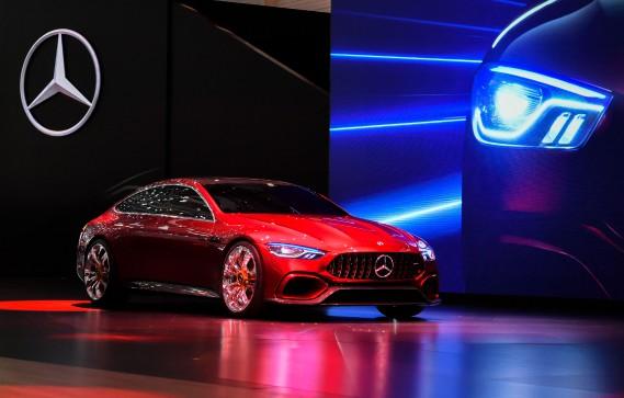 Le prototype Mercedes-AMG GT. (AFP)