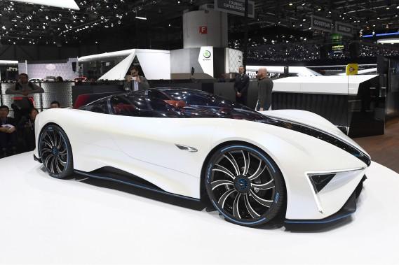 La voiture électrique REN du constructeur chinois Techrules. (AFP)