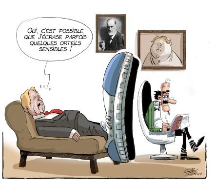 Caricature du 8 mars (Le Soleil, André-Philippe Côté)