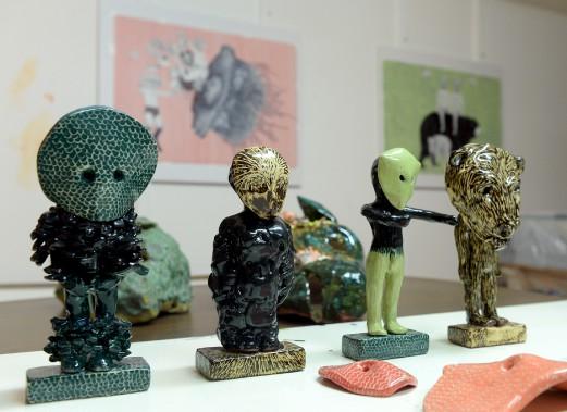 Des figurines de céramique de Fanny Mesnard (Le Soleil, Erick Labbé)
