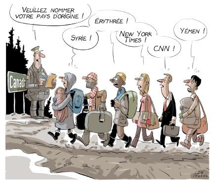 Caricature du 13 mars (Le Soleil, André-Philippe Côté)