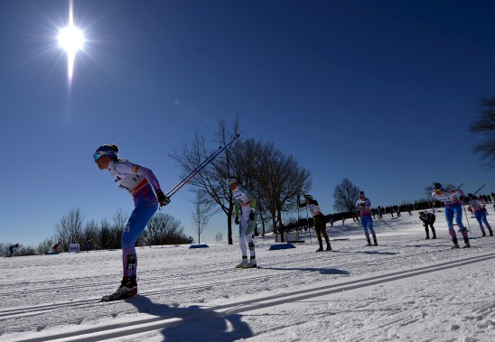 Les compétitions de samedi se sont tenues sous un ciel bleu sans nuage. (Le Soleil, Yan Doublet)