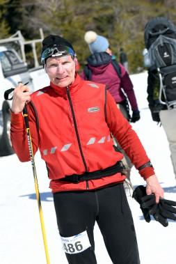 Âgé de 73 ans, Bernard Carré a complété l'épreuve du 45km. (Le Progrès-Dimanche, Rocket Lavoie)