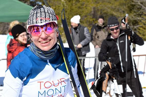 Stéphanie Collard a remporté l'épreuve pour la troisième fois en style libre. (Le Progrès-Dimanche, Rocket Lavoie)