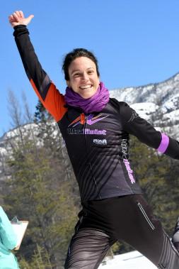 La sympathique Lynda Gingras a terminé au deuxième rang du classement général au 19km en raquettes. (Le Progrès-Dimanche, Rocket Lavoie)