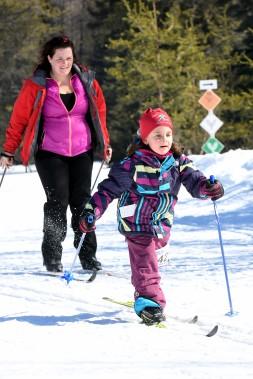 Petits et grands ont participé au Tour du mont Valin. (Le Progrès-Dimanche, Rocket Lavoie)