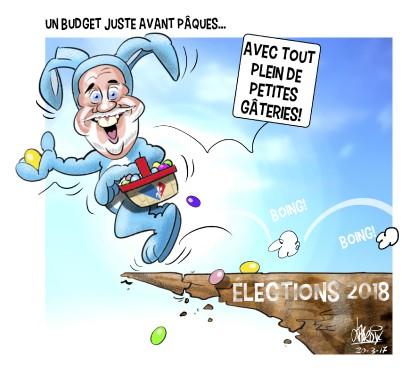 Caricature du 20 mars (Le Quotidien, Mario Lacroix)