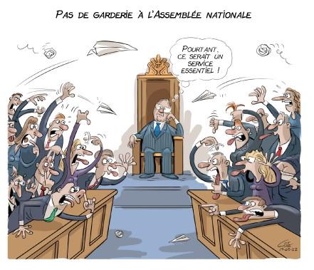 Caricature du 22 mars (Le Soleil, André-Philippe Côté)