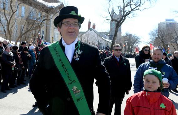 Le Grand Marshall du défilé de la Saint-Patrick,Stephen Burke (Le Soleil, Erick Labbé)