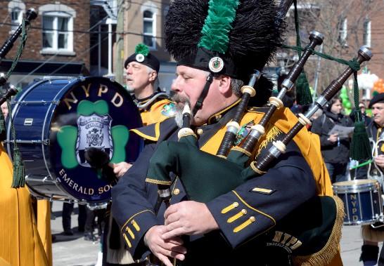 Des musiciens de l'ensemble de la Police de New York (NYPD) (Le Soleil, Erick Labbé)