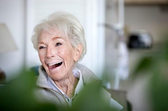 Janine Sutto, photographiée chez elle en mars 2015. (Ivanoh Demers, archives La Presse)