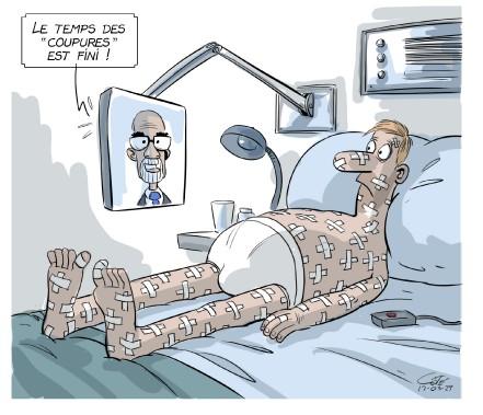 Caricature du 29 mars (Le Soleil, André-Philippe Côté)