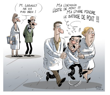 Caricature du 30 mars (André-Philippe Côté)
