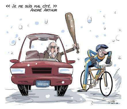 Caricature du 31 mars (Le Soleil, André-Philippe Côté)
