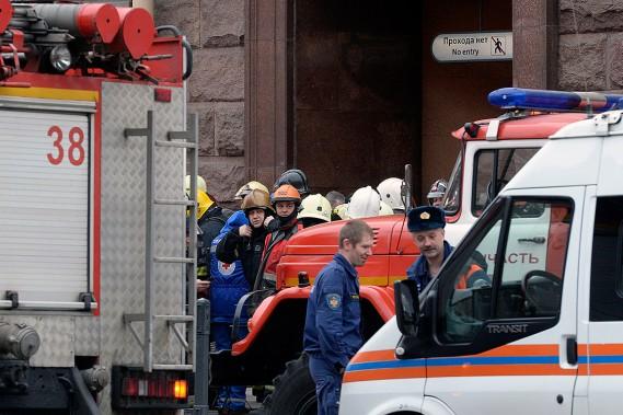L'explosion a eu lieu dans une rame de métro alors qu'elle se trouvait entre deux stations du sud-ouest de Saint-Pétersbourg, soit entre les stations Sennayan Ploshchad et Tekhnologichesky Institut. (OLGA MALTSEVA, AFP)
