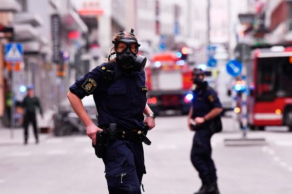 L'agence de presse suédoise TT révèle que plusieurs blessés ont été emportés en ambulance. (JONATHAN NACKSTRAND, AFP)