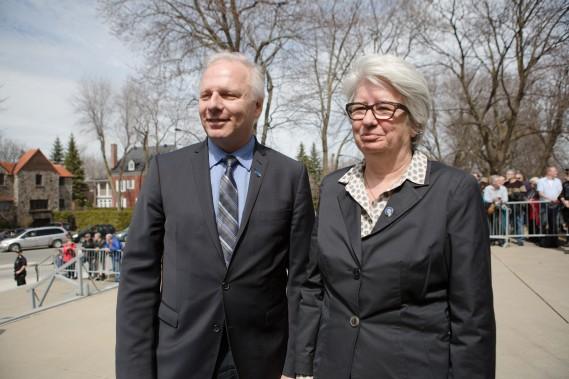 Jean-François Lisée et Agnès Maltais. (NINON PEDNAULT, LA PRESSE)