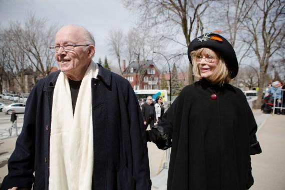 Bernard Landry et sa femme, Chantal Renaud. (NINON PEDNAULT, LA PRESSE)