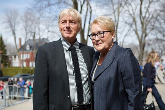 Pauline Marois et son conjoint, Claude Blanchet. (NINON PEDNAULT, LA PRESSE)