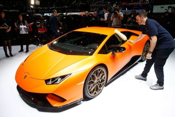 <strong>La voirture de ses rêves</strong> Il a un faible pour la Lamborghini Huracán Spyder. «J'adore le son des autos exotiques, c'est sexy.» (Photo : REUTERS)