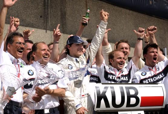 Robert Kubica sur BMW Sauber a remporté sa premiere course au circuit Gilles Villeneuve lors du Grand Prix du Canada en 2008. (Photo Bernard Brault, La Presse)