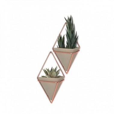 Ensemble de deux vases muraux avec support en cuivre. Vestibule Boutique Art de vivre ()