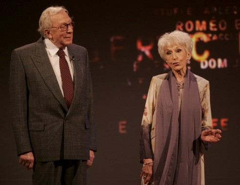 Paul Hébert et Janine Sutto au gala des Masques, en 2005 (Photothèque Le Soleil)