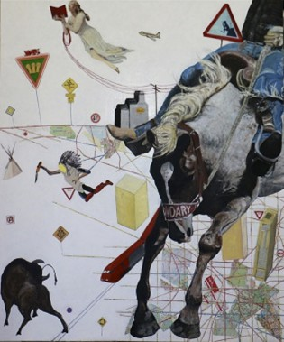 <em>Watch Out For The Big Horse</em> de Tim Moore (Fournie par la Galerie 3)