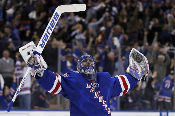 Le roi de la série: Henrik Lundqvist, gardien des Rangers de New York. (Photo Adam Hunger, USA TODAY Sports)