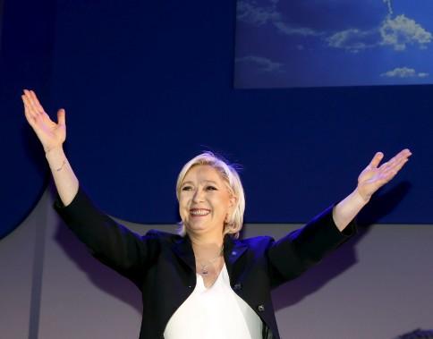 «La première étape qui doit mener les Français à l'Élysée est franchie. Ce résultat est historique», a déclaré Marine Le Pen après l'annonce des résultats. (AP, Frank Augstein)